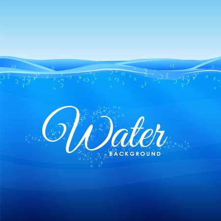 Vector illustration. Blue clean Under Water background. Çizim