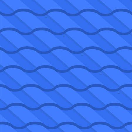 ベクトルイラスト:波形金属タイル要素の背景