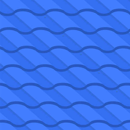 Vector illustration: Background of corrugated metal tile element