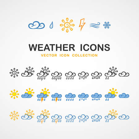 Different Weather icons Illustration