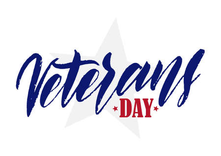Hand drawn lettering of Veterans Day
