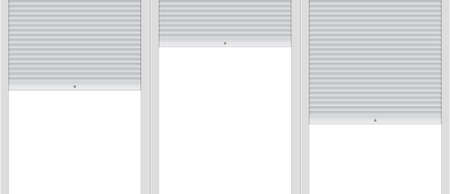 Vector illustration: Blank template of background with roller shutters.