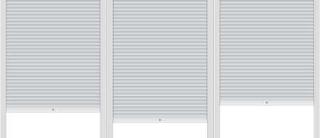 Template of background with covered roller shutters.