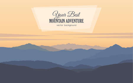 Mountains early morning landscape. Ilustração