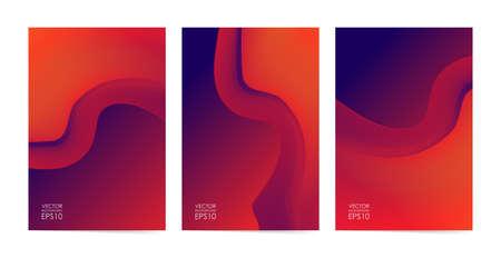 Vector illustration: Set of Liquid colors covers