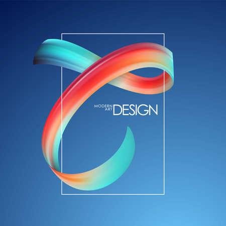 Vector illustration: Abstract brushstroke paint template for poster design. Modern art.