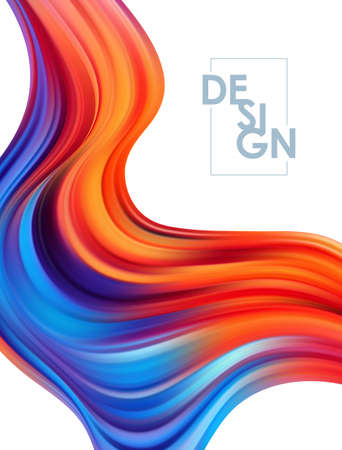 Abstract modern colorful flow posters. Wavy liquid background. Trendy art design Иллюстрация