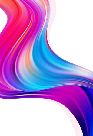 Modern colorful flow poster background. Abstract wave liquid shape. Trendy art design