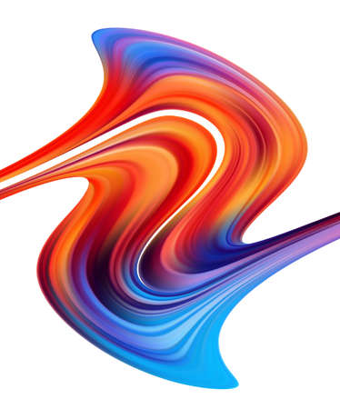 Modern colorful paint flow. Wave liquid shape on white background. Abstract design. Иллюстрация