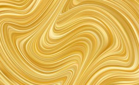 Vector illustration: Modern golden flow background. Wavy Gold Liquid.