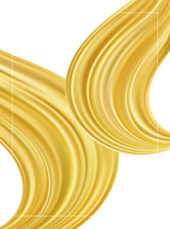 Vector illustration: Modern gold flow background. Abstract wave liquid shape. Template for your design