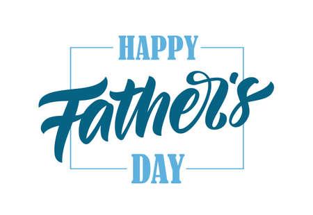Ilustración vectorial: Letras de tipo pincel caligráfico del Feliz Día del Padre. Ilustración de vector