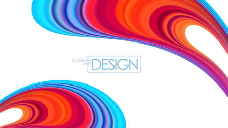 Modern colorful flow background. Abstract wave liquid shape. Trendy design Фото со стока - 127395931
