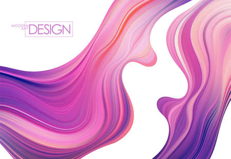 Vector Modern colorful flow background. Wave Liquid shape. Abstract design.