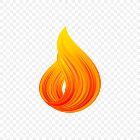 forma di flusso del liquido di colore torto astratto 3d. Disegno del tratto di vernice. Fiamma di fuoco.