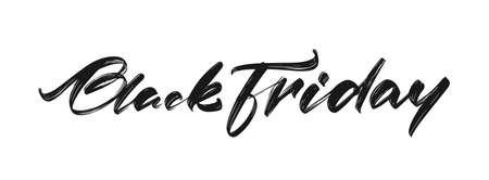 Hand drawn calligraphic brush type lettering of Black Friday on white background Stock fotó - 132953472