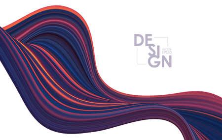 Modern colorful flow background. Abstract wave liquid shape. Art design Stock fotó - 132769641