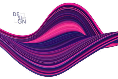 Modern colorful flow background. Abstract wave liquid shape.