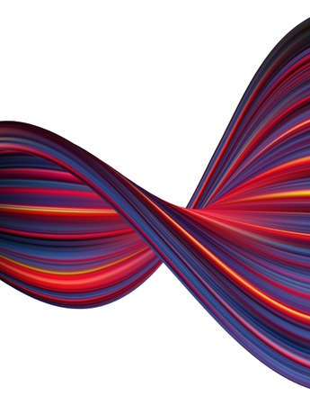 Modern colorful flow poster. Abstract wave liquid shape. Trendy art design Stock fotó - 132775671