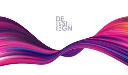 Colorful modern flow background. Abstract wave liquid shape. Trendy art design Stock fotó - 132775889