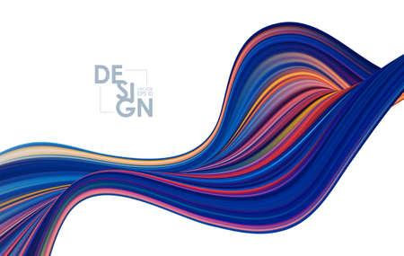 Modern colorful flow background. Wave liquid shape. Trendy art design