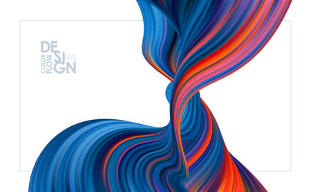 Vector illustration: Modern colorful flow background. Abstract wave liquid shape. Trendy design Stock fotó - 132795775