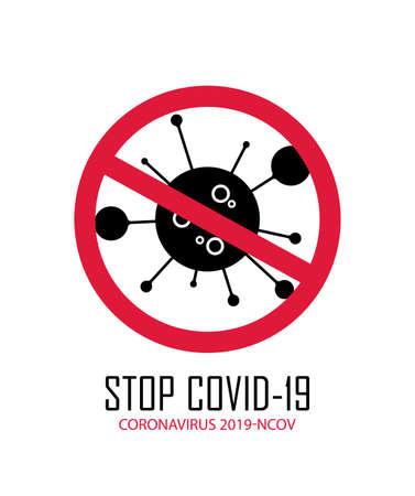 Coronavirus sign of Stop Covid-19.