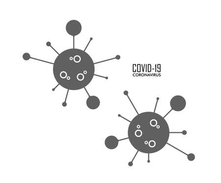 Vector illustration of Coronavirus sign. Illustration