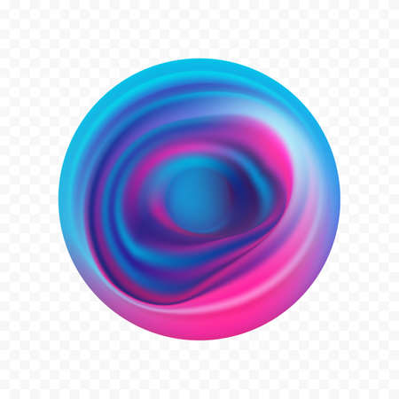 Abstract 3d color flow shape. Colorful circle liquid of paint.  イラスト・ベクター素材