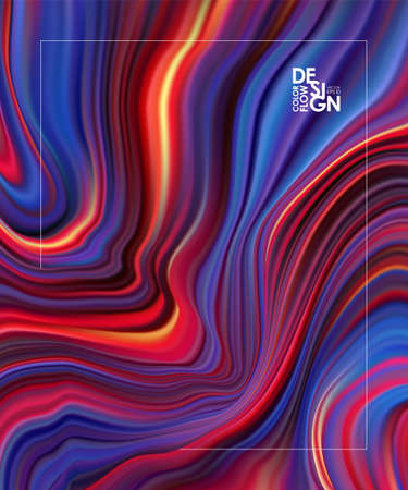 Vector illustration: Abstract colorful flow background. Wave color Liquid shape.