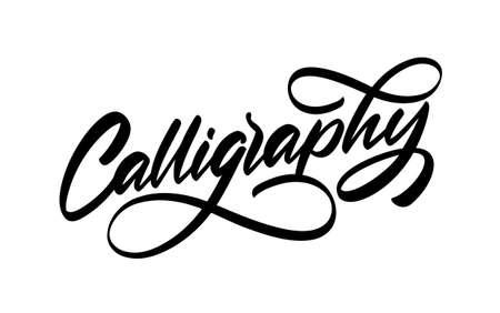 Vector illustration: Handwritten lettering of Calligraphy on white background