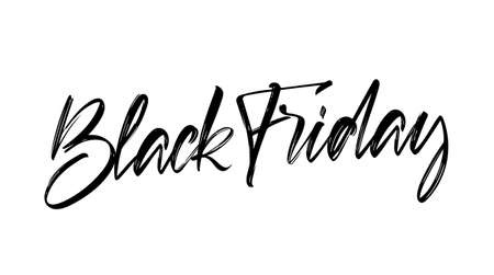 Calligraphic lettering of Black Friday. Special offer. Seasson sale.
