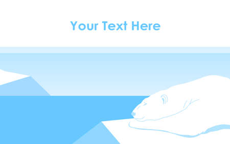 Vector illustration: Polar bear lying on an ice floe