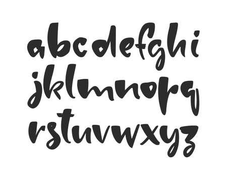 Vector illustration: Handwritten ink brush Font. English Alphabet letters. 向量圖像