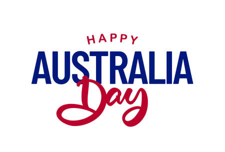 Vector lettering composition of Happy Australia Day
