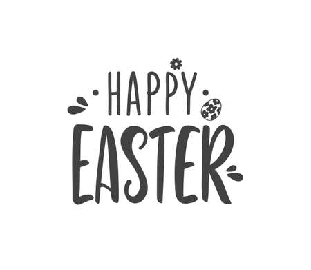 Vector illustration: Hand drawn lettering composition of Happy Easter Иллюстрация