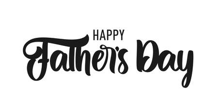 Vector Calligraphic lettering composition of Happy Father's Day. Greeting card Ilustração