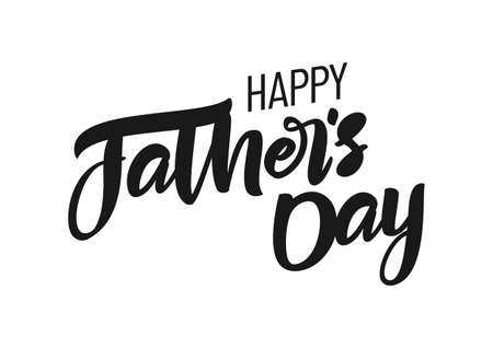 Calligraphic lettering composition of Happy Fathers Day. Greeting card