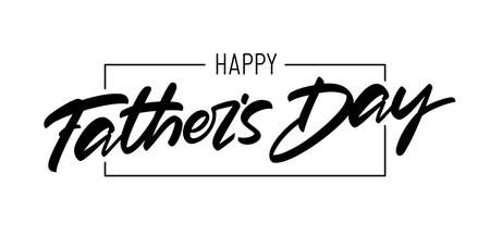 Vector handritten brush type lettering of Happy Fathers Day.