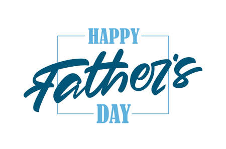 Vector handritten brush type lettering composition of Happy Fathers Day.