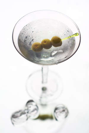 Martini with olive on fancy skewer Stock Photo - 5771330