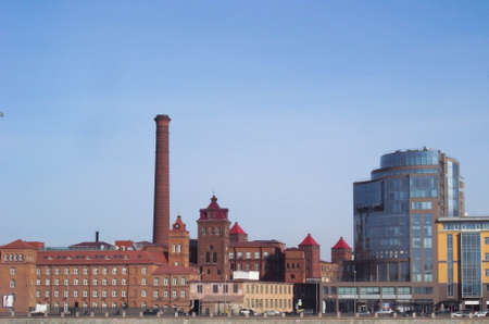The building of the old factory. Industrial architecture of the early twentieth century.