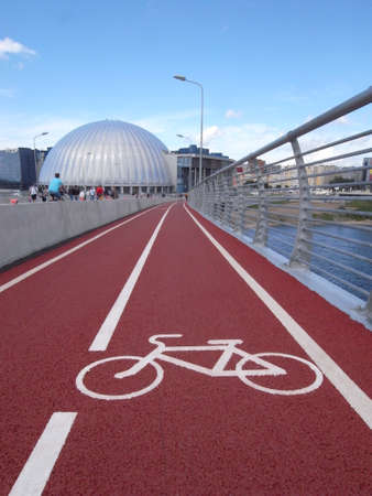 Bike superiority in the city. There are new bike paths.