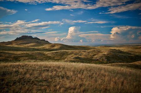 Beautiful Nature. Landscape In Kazakhstan On Autumn Day Stock fotó