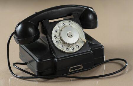 Old Fashion Rotary Dialer Telephone Stok Fotoğraf - 133968441