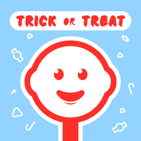 spun sugar: Design Illustration Concepts Symbol Candy. Trick or Treat. Halloween. Concepts Web Banner and Printed Materials. Trendy and Beautiful. Flat Elements Illustration