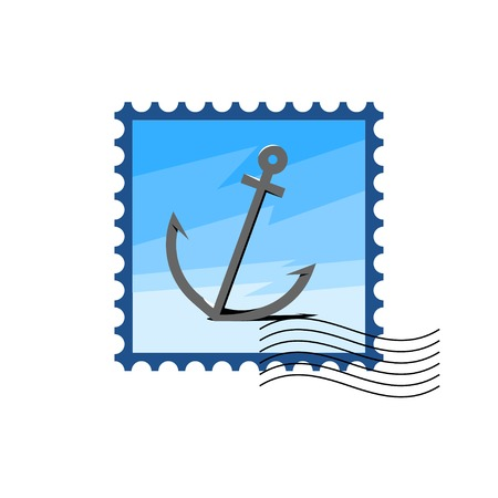 anchored: Design Illustration Anchor with Style Typography and Other Elements. Vector Illustration. Concepts Web Banner and Printed Materials. Trendy and Beautiful. Polygonal Vector Background. Flat Elements