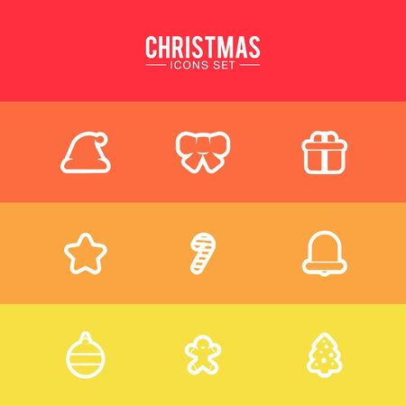 christmas cookie: Christmas Icons Set. Design Illustration Concepts Icons New Year and Christmas. 2016.