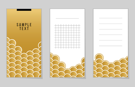 gold fish: Collection of Gold Fish Or Snake Scales notebook, stickers, labels, tags. Template for scrapbooking, wrapping, notebooks