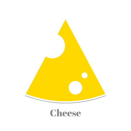 american cuisine: Triangular piece of yellow porous cheese food with holes